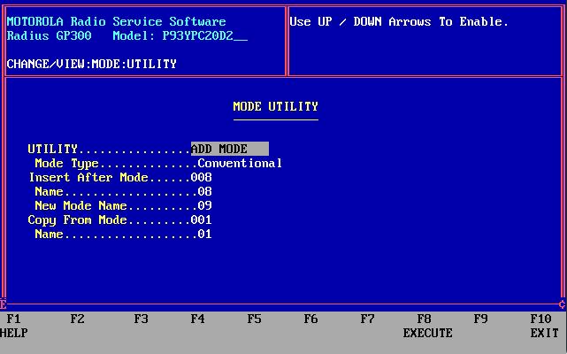 GP300 Mode Utility