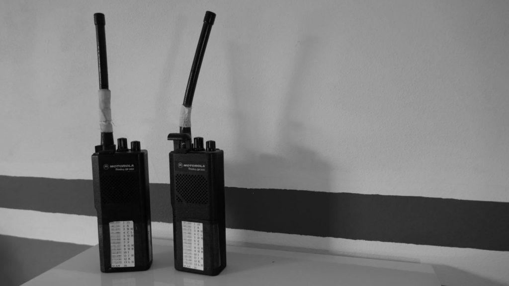 Two GP300 radios