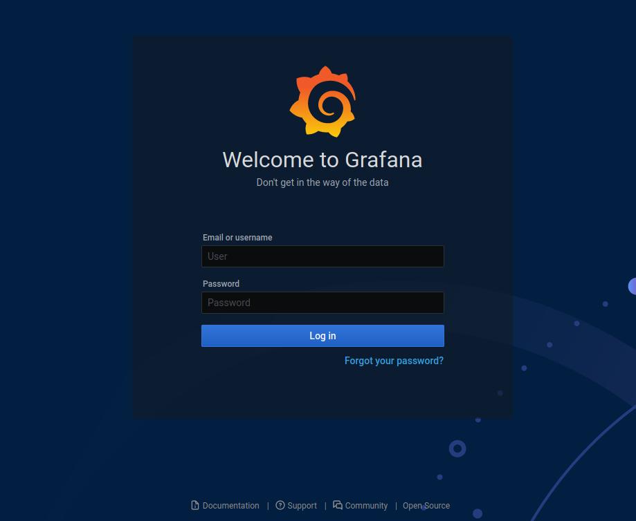 Grafana screenshot